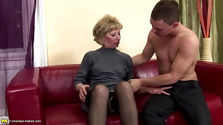 Muted adult mom ass fucked and pissed on