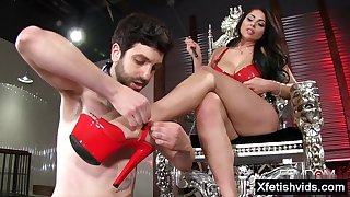 Nasty mistress undignified and ejaculate