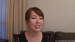 MILF Japanese housewife Hatano Yui sprayed with cum on circumstance