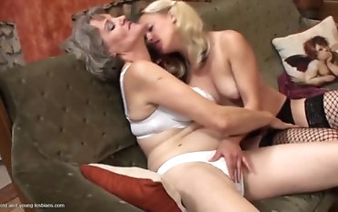 Heavenly aged cissified got fucked by a lesiban