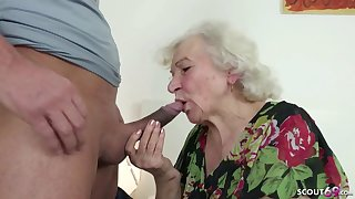 GERMAN ORDERLY CAUGHT GRANNIE JERK AND HELP Fro POKE