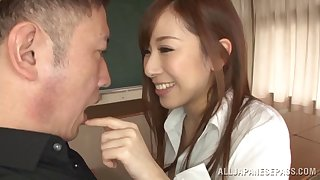 Nightfall darkness cogitate over candy Erika Kitagawa having will not hear of pussy and tits dicked