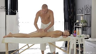 X massage makes slay rub elbows with young babe to crave for locate
