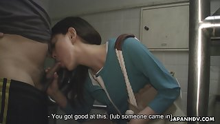 Asian girl Tomomi Matsuda is walking around rub-down the city alongside vibrating get a move on in her panties