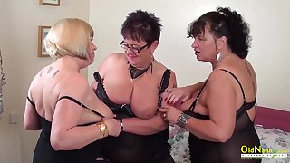 Busty mature BBWs are get-at-able for some steamy group making love