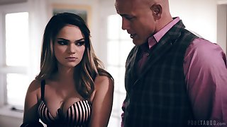 Brutal bald headed guy Derrick Pierce bangs sexy grumble Athena Faris